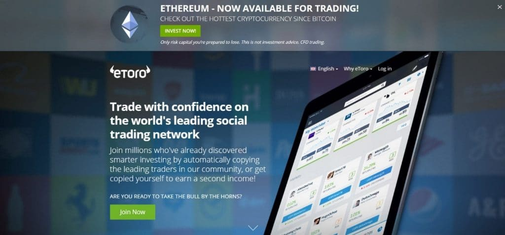 eToro Broker Website