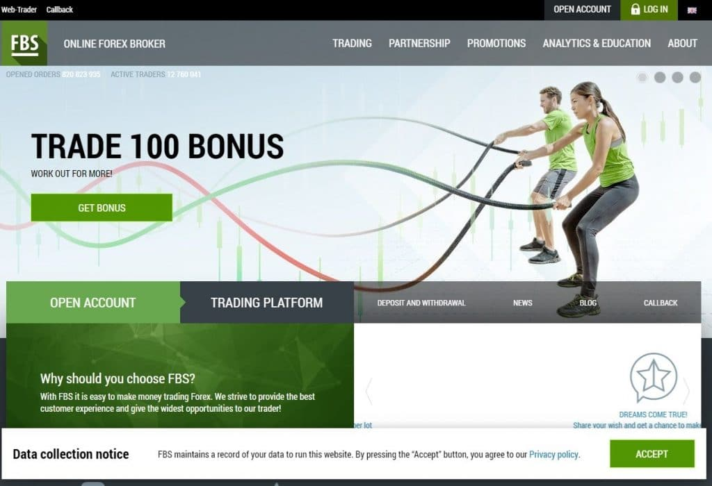 FBS Forex Broker Website