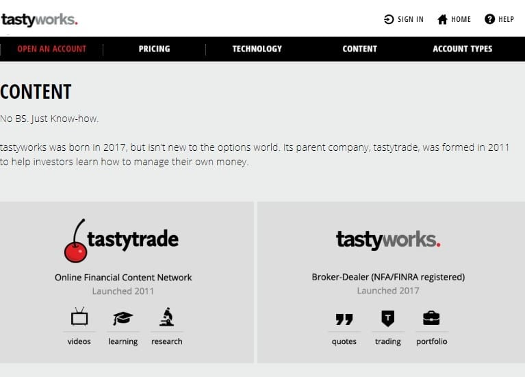 tastyworks education