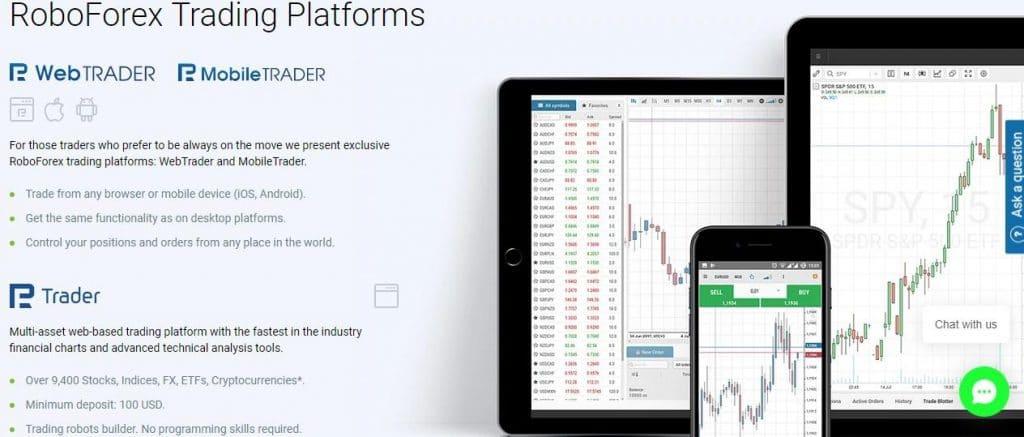 roboforex trading platforms