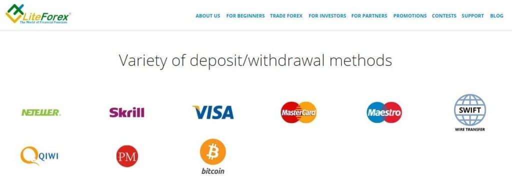 liteforex payments