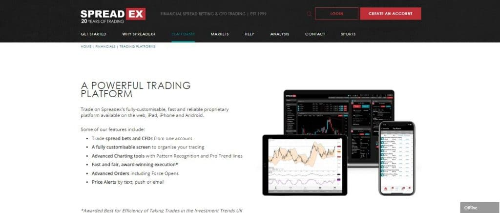 spreadex trading platforms