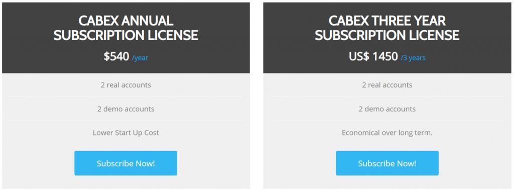 CabEx Pricing