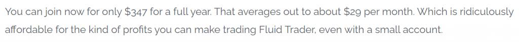 FluidTrader Pricing