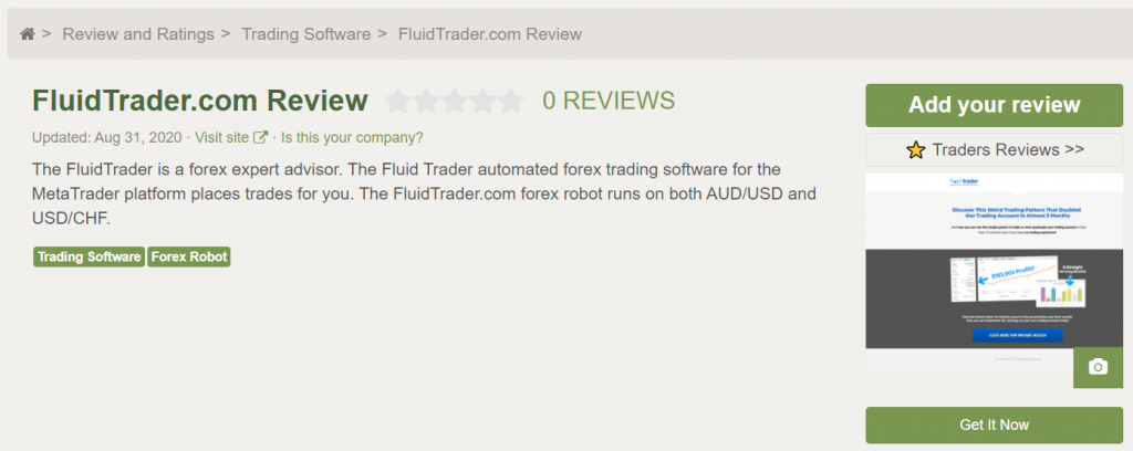 FluidTrader Customer Reviews