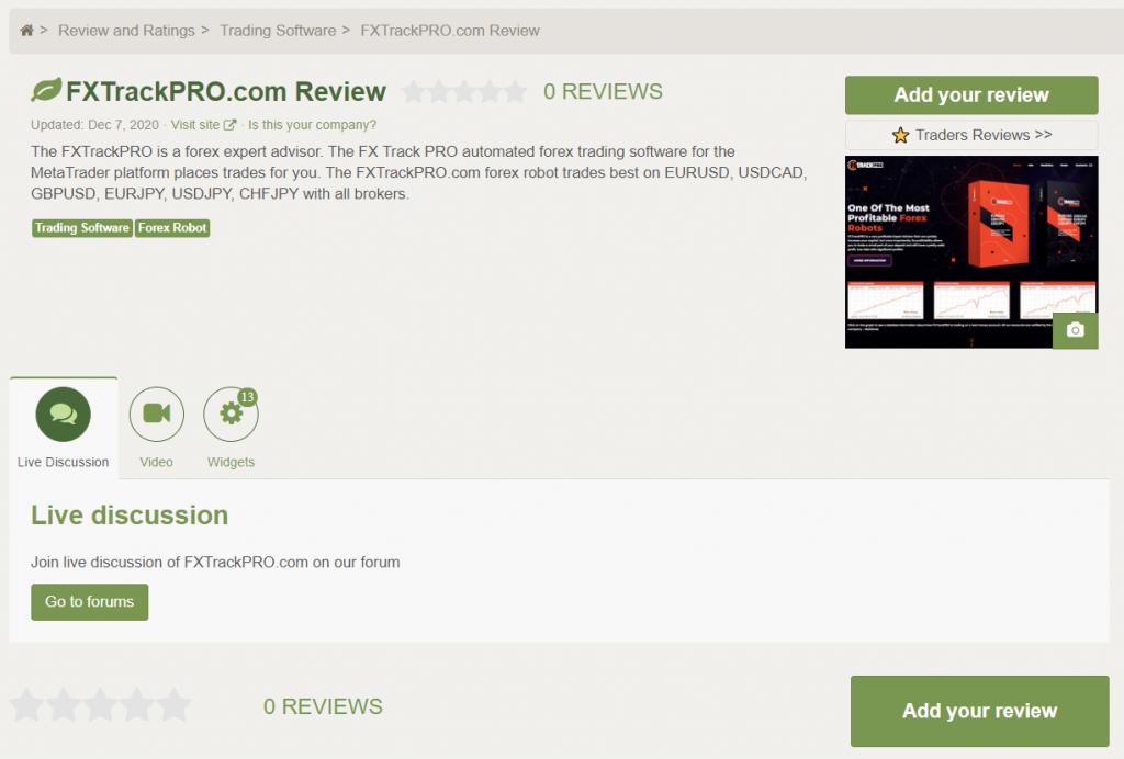 FX Track Pro Customer Reviews
