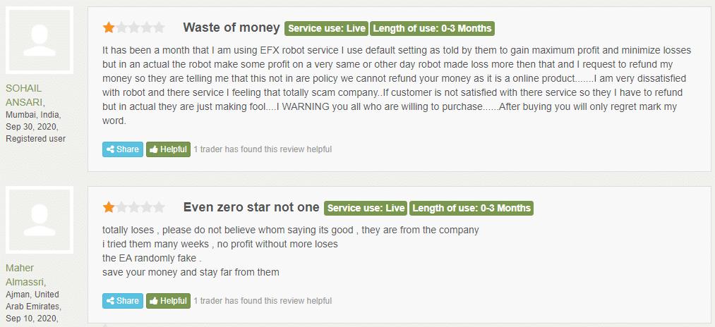 Elite FX Signals Customer Reviews