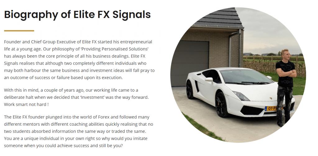 Biography of Elite FX Signals