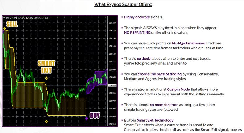 what Exynox Scalper offers