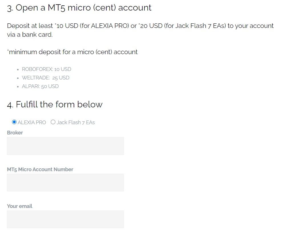 Screti-Forex-Robot - We have to provide the developer with our MT5 account number.