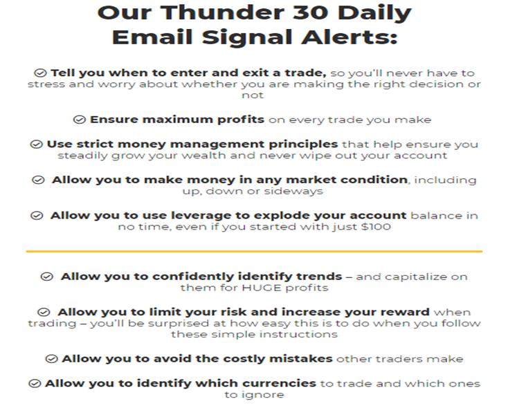 The Thunder 30 Signals service provides signal alerts