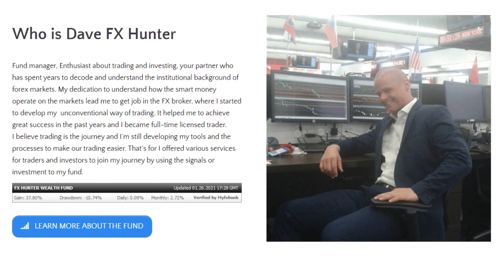 There's Dave FX Hunter, who created FX Hunter Wealth