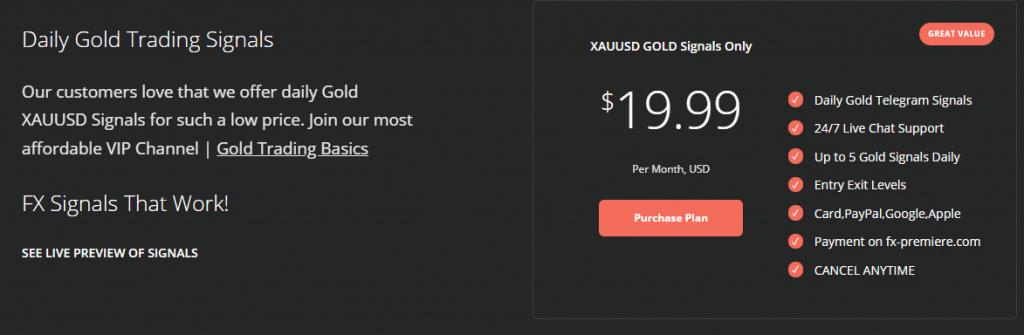 FX Premiere Pricing