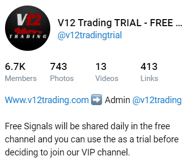 V12 Trading Telegram channel