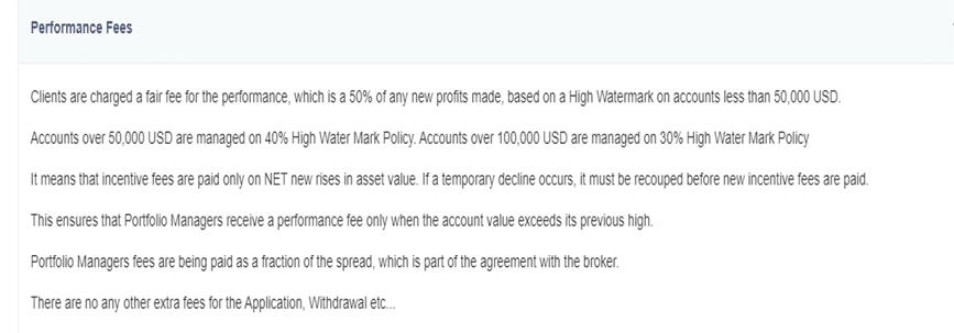 Wall Street Traders fees