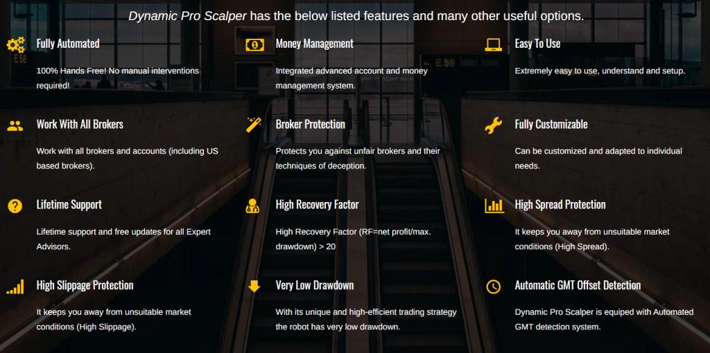 Dynamic Pro Scalper features