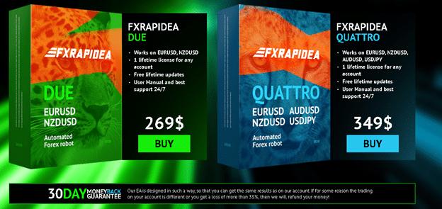 FXRapidEA Pricing