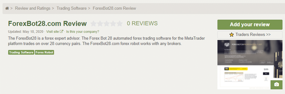 Forex Bot 28 Customer Reviews