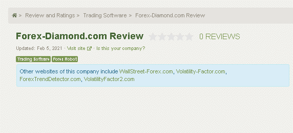 Forex Diamond Customer Reviews