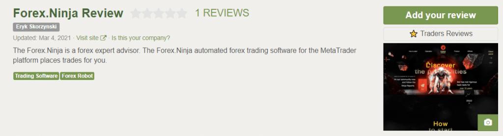 Forex Ninja Customer Reviews