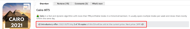 The next 10 copies of Cairo EA will be sold for $499.
