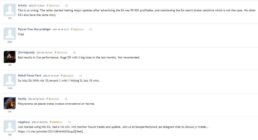 Perfect Score Customer Reviews