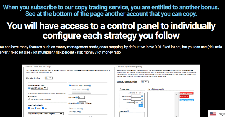 ROBOCOPY FX. With the copy trading system, the only thing you have to do is copy the trades sent by the service.