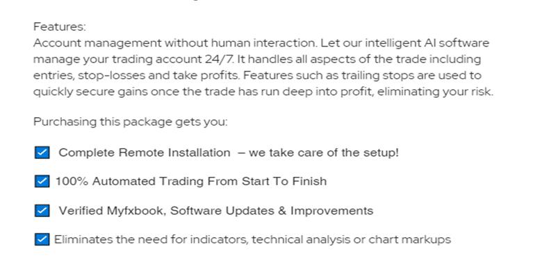 ELITE Automated Algorithm EA features