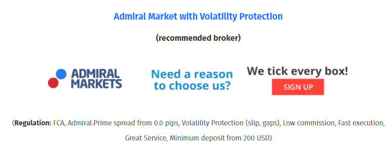 Happy News. Happy Forex suggests we use Admiral Markets as the main broker house to work with.