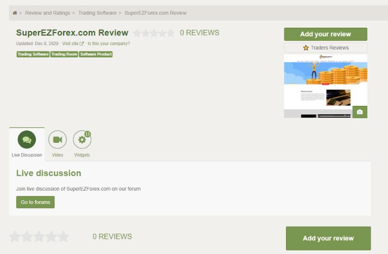 Super EZ Forex Customer Reviews