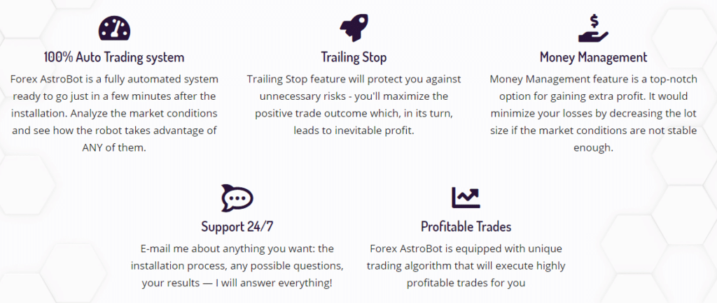 Forex Asrtobot features