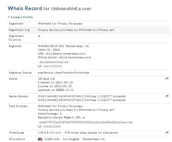 Unbeatable EA - domain profile