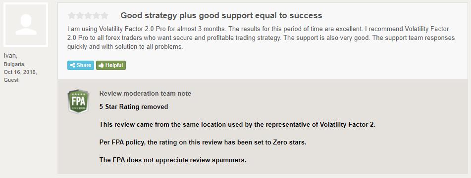 Volatility Factor 2.0 Customer Reviews