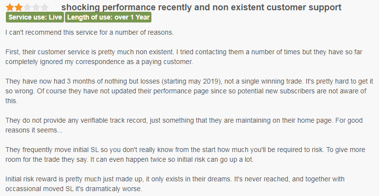 Client stating he made losses and customer support is nonexistent.