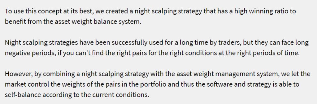 DynaScalp strategy details.
