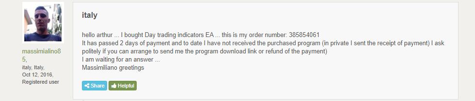 Customer reviews on FPA.