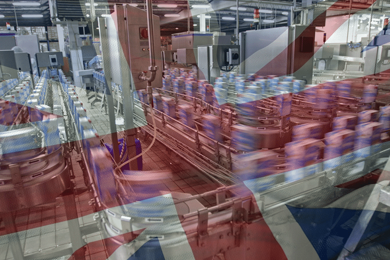 UK Private Sector Output Falls to 6-Month Low on Staff Shortages, Supply Constraints