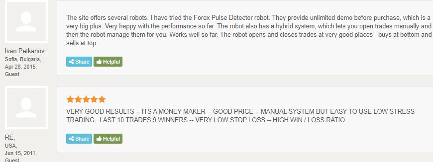 Forex Pulse Detector - Customer reviews