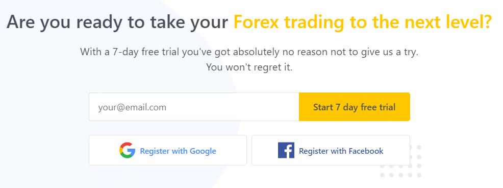 ForexSignals trial option.