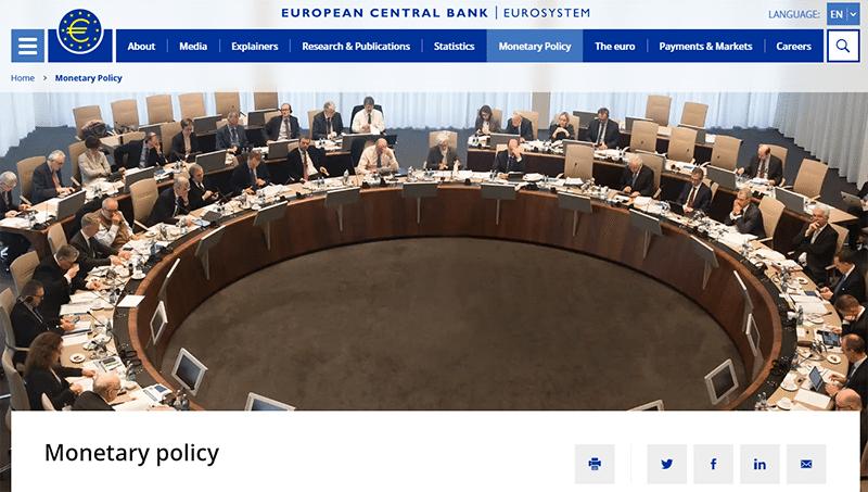 European Central Bank website