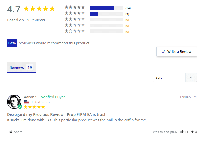 Customer testimonials.
